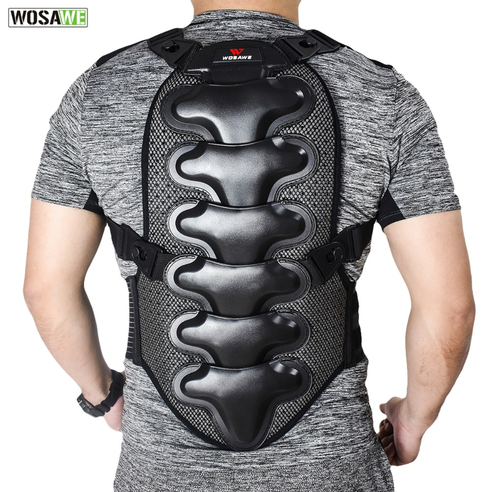WOSAWE Double Layer Back Protection Breathable Quick Dry Motorcycle Dirty Motocross Back Spine Protection Adjustment