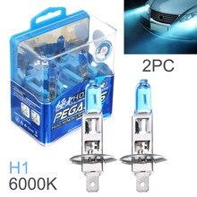 2 pçs h1 h3 h4 h7 90006 9005 880 881 100w 6000k luz branca super brilhante carro hod halogênio lâmpada frente do carro farol luz de nevoeiro lâmpada