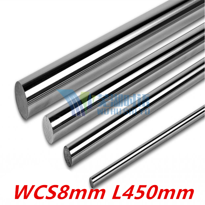 2 pcs 3D printer rod shaft WCS8mm linear shaft L450mm chrome plated linear motion guide rail round rod 8mm 450mm диски helo he844 chrome plated r20