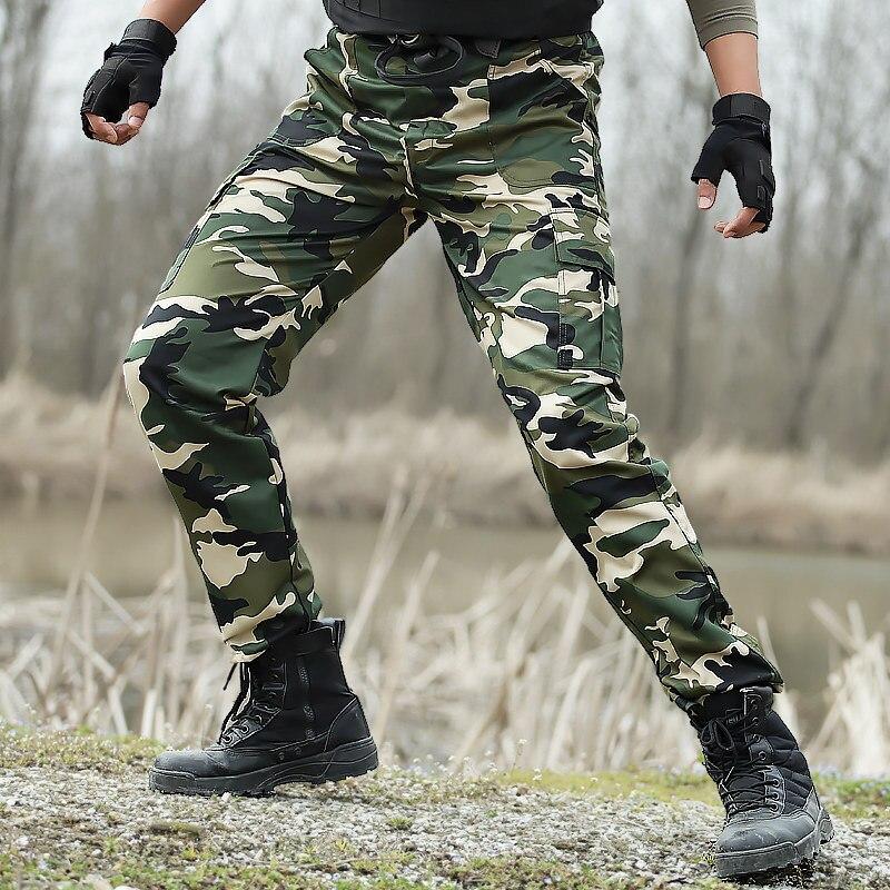 2019 Moda Uomini Military Tactical Caccia Camuffamento Combattimento Sport Outdoor Pantaloni Da Trekking Uomo Pesca Arrampicata Pantaloni Pantaloni Di Formazione Vincere Elogi Calorosi Dai Clienti