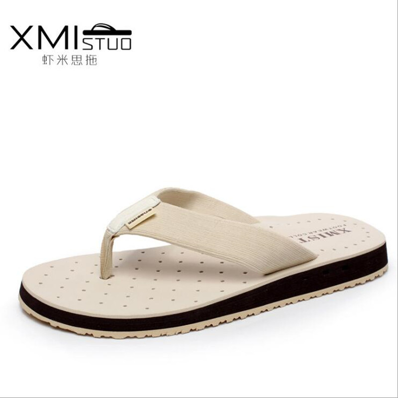 Hot 2017 Men's Flip Flops Male Slippers Summer Fashion Beach Sandals Shoes for Man High Quality Plus size Eur :39-44 hot sale new 2016 summer eva shoes fashion flip flops men sandals male flat massage yellow beach slippers size 39 44