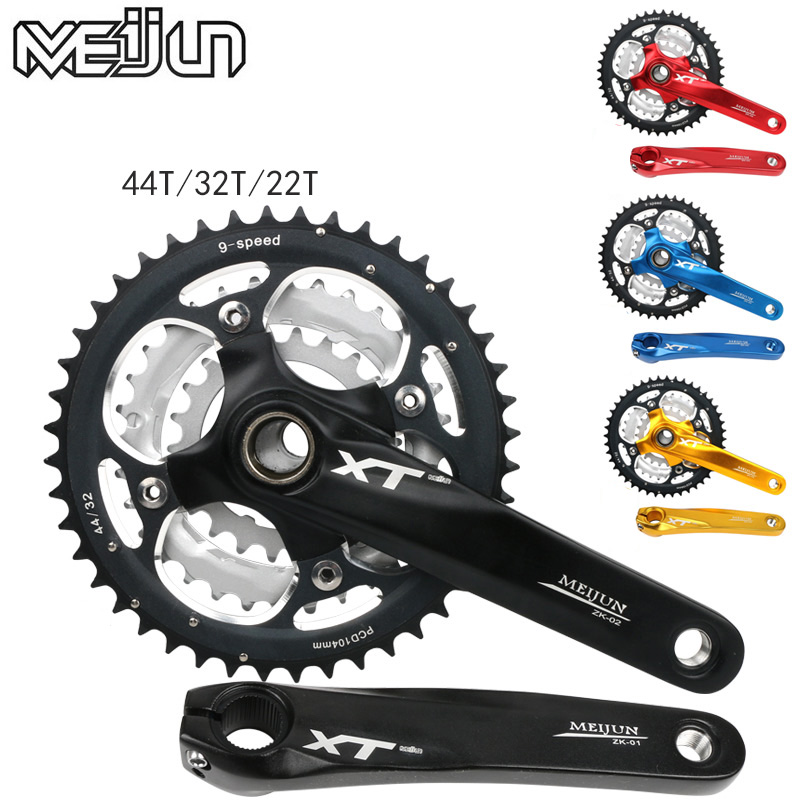 Mountain bike crank set Bicycle crank set Sprocket 22/32/44T Bicycle crank set Hollow tooth plate 9/27 speed tooth plate glorex 3 6 6 686804