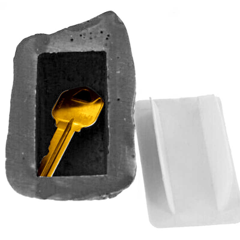 Outdoor Spare Garden Key Box Rock Hidden Hide In Stone Security Safe Storage Hiding containers