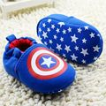 New Infant Toddler Newborn Baby Shoes Kids Baby Girls Boys Shoes Bebe Soft Bottom Anti-slip Shoes Captain America 6pairs/lot