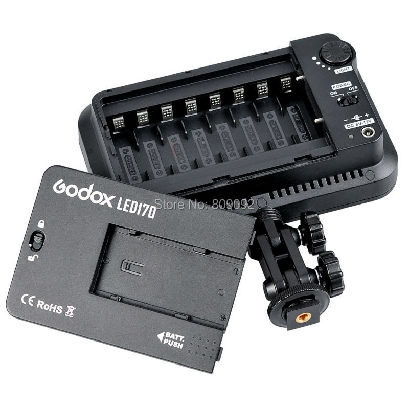 Godox LED170 Video Light 170 LED Lamp Studio Lighting 2700LM 5500-6500K Stepless Brightness for Camera DV Canon Nikon godox professional led video light