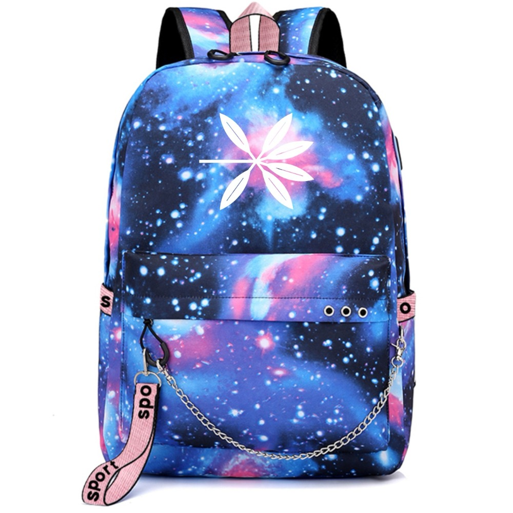 Backpacks Symbol Of The Brand Exo Exact Monster Lucky One Backpack School Bags Galaxy Thunder Mochila Bags Laptop Chain Backpack Usb Port Luggage & Bags