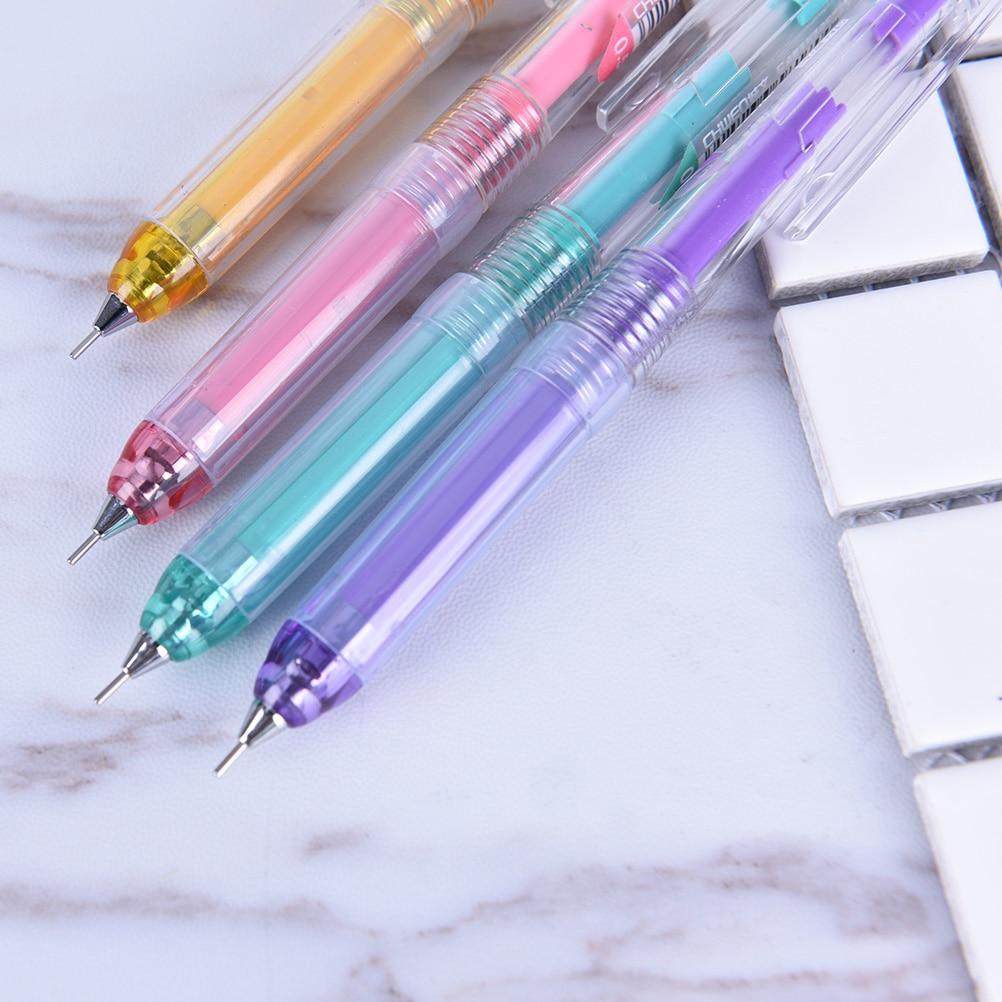 Cute Korean Stationery 0.7mm Kawaii Mechanical Pencil With Eraser Lovely Succulent Pen Kids Gift