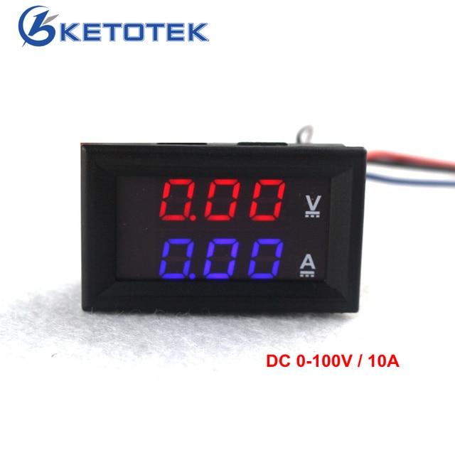 Car Red Blue LED DC V A Digital Amp Volt Meter Gauge - Car sign with namesonline get cheap d led sign aliexpresscom alibaba group