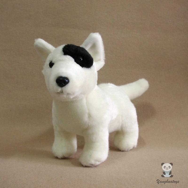 ぬいぐるみシミュレーション白 · ブル · テリア犬子供おもちゃクリスマスプレゼント素敵な人形レア  グループ上の おもちゃ & ホビー からの ぬいぐるみ & フラシ天 動物 の中 1