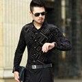 Новый Дизайн Мужской Мода Осень Бархат Рубашка Сексуальная Мужская Повседневная С Длинным Рукавом Бархатное Платье Рубашки