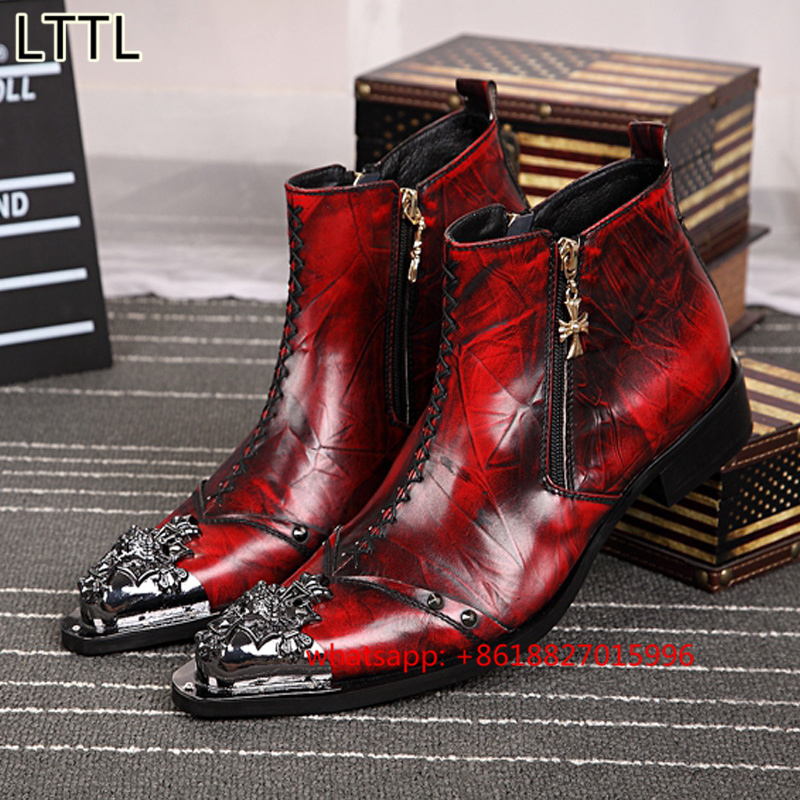 Online Get Cheap Red Cowboy Boots Men -Aliexpress.com | Alibaba Group