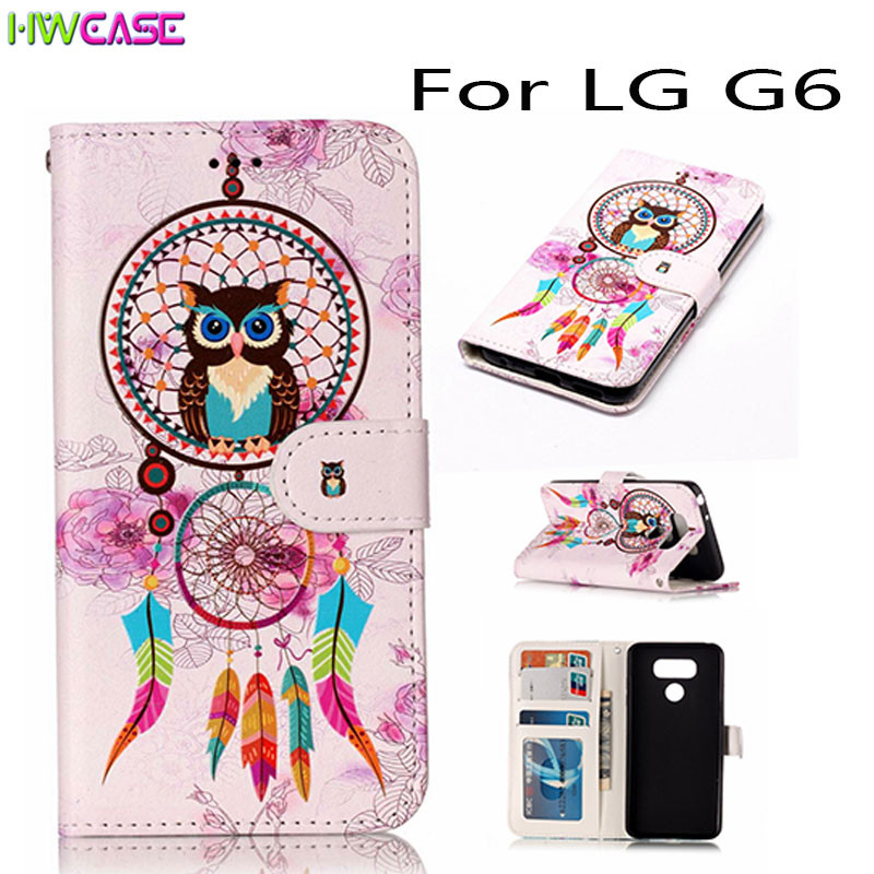 Capa For LG G6 K10 2017 Case Stand Flip Wallet Purse Pouch Relief Oil Cute Lion Phone Cases K10 2017 Coque Card Slot Photo Frame