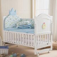 От 0 до 6 лет детская кровать твердой деревянная детская кроватка Многофункциональный Детские кроватки может быть увеличена детская кроват