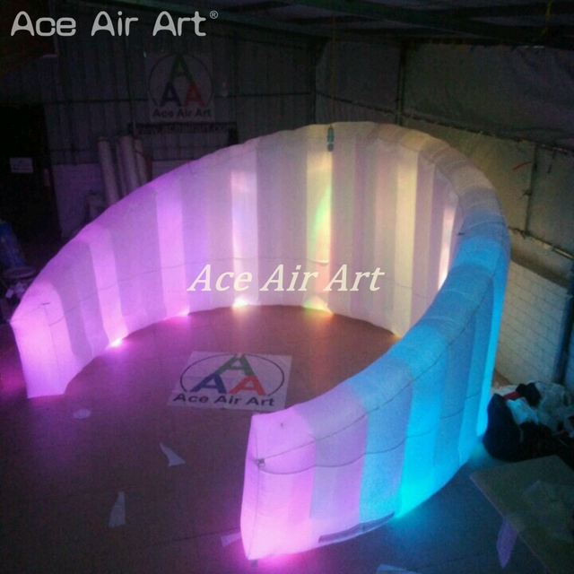 Brightest spotlights new style curved wall led lighting inflatable photo wall,dj booth,trade show divider made by Ace Air Art