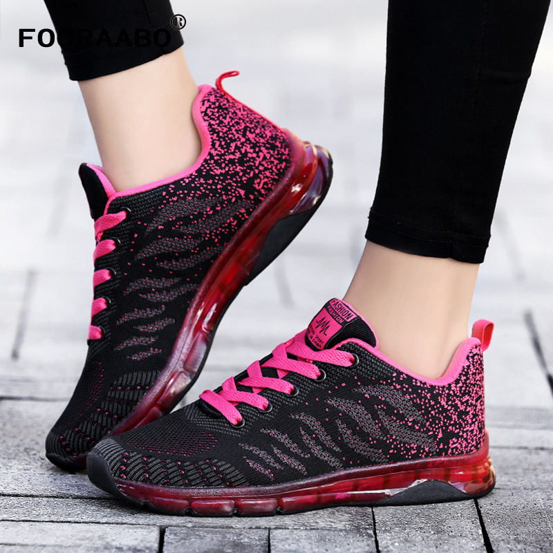 FOORAABO Fashion Casual Women Shoes Spring Air Mesh Breathable Ladies Womens Sneakers Non-slip Zapatos Mujer Tenis Feminino mwy women breathable casual shoes new women s soft soles flat shoes fashion air mesh summer shoes female tenis feminino sneakers