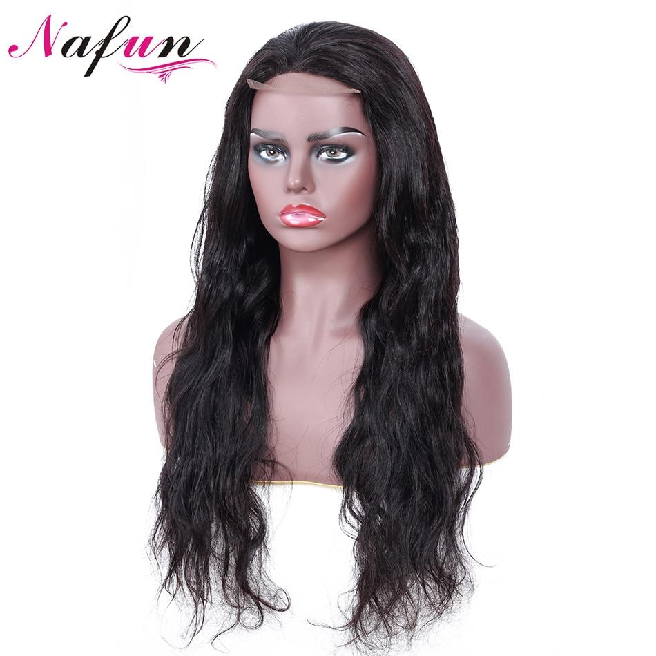 NAFUN 4x4 Lace Closure Wigs For Black Women Remy Hair Body Wave Brazilian Lace Closure Wig