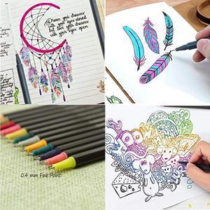 Image 5 - Acquerello Marcatori Fineliner Penna di Colore Set 80 Colori 0.4 millimetri Disegno Schizzo Penne Poroso Fine Point Colorazione Marker per Larte supporto