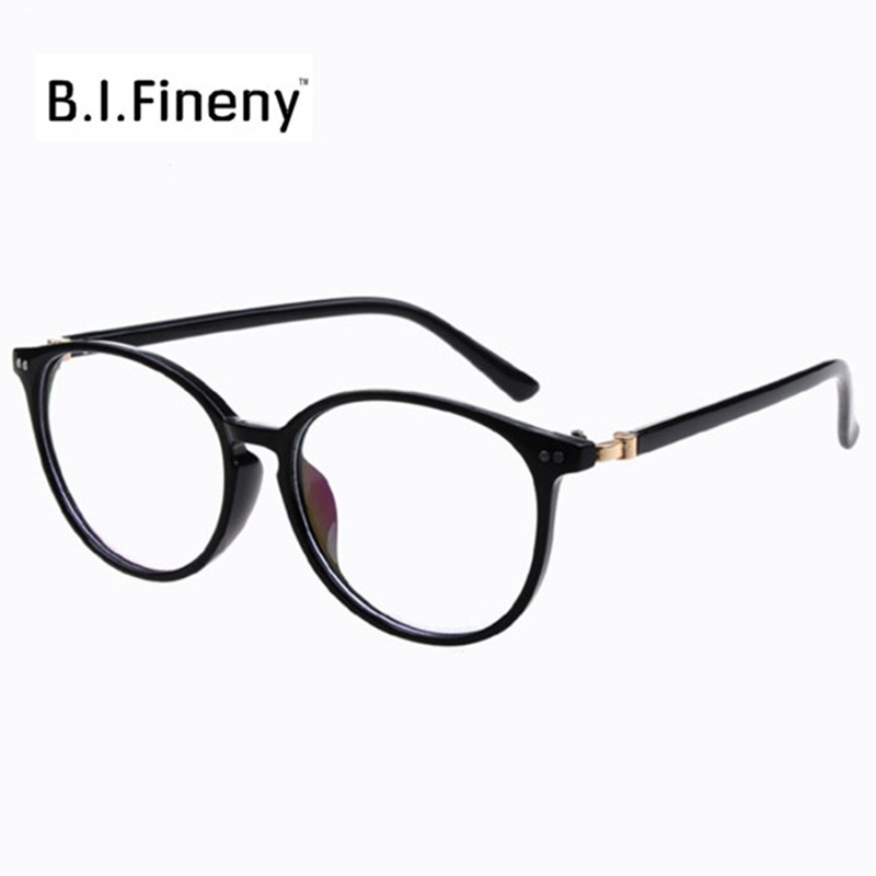Vintage Retro DesignWomen round oval eyeglasses glasses frames high grade light weight solid color Spectacles plain glasses