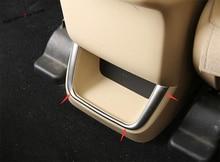 Yimaautotrims Rear Armrest Box Decoration Strip Interior Mouldings Cover Trim Fit For Toyota Highlander KLUGER 2017 2018 2019