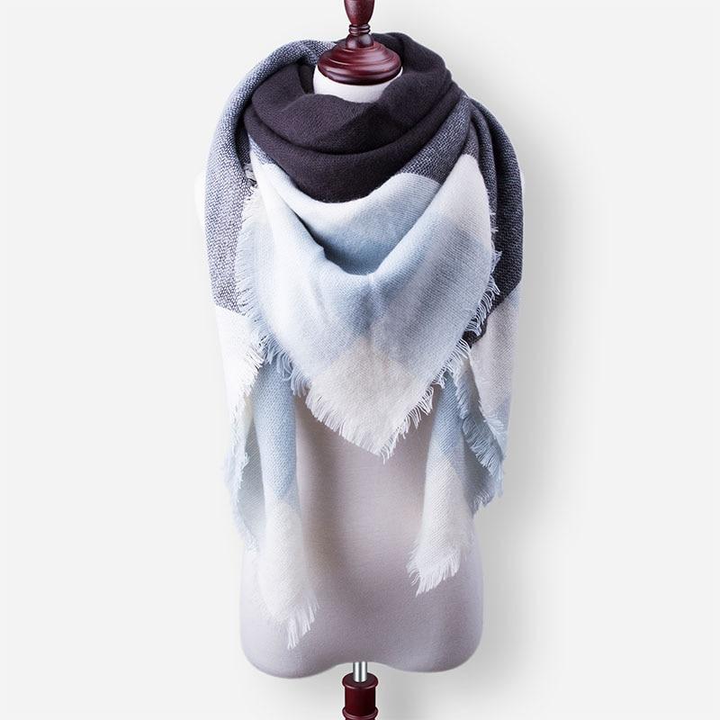 Бренд Evrfelan, шарфы, Прямая поставка, женский зимний шарф, высокое качество, плед, одеяло, шарф и шаль, большой размер, плотные шарфы, шали - Цвет: W20