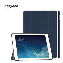 Easyacc For iPad Air 2 Case,Slim Pu Leather Soft Back Smart Cover Sturdy Stand Auto Sleep for Apple 6 Free Shipping