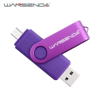 New Wansenda OTG USB Flash Drive 128GB 64GB 32GB 16GB 8GB Cle USB Pen Drive For Android /Tablet /PC USB 2.0 Pendrive USB Flash