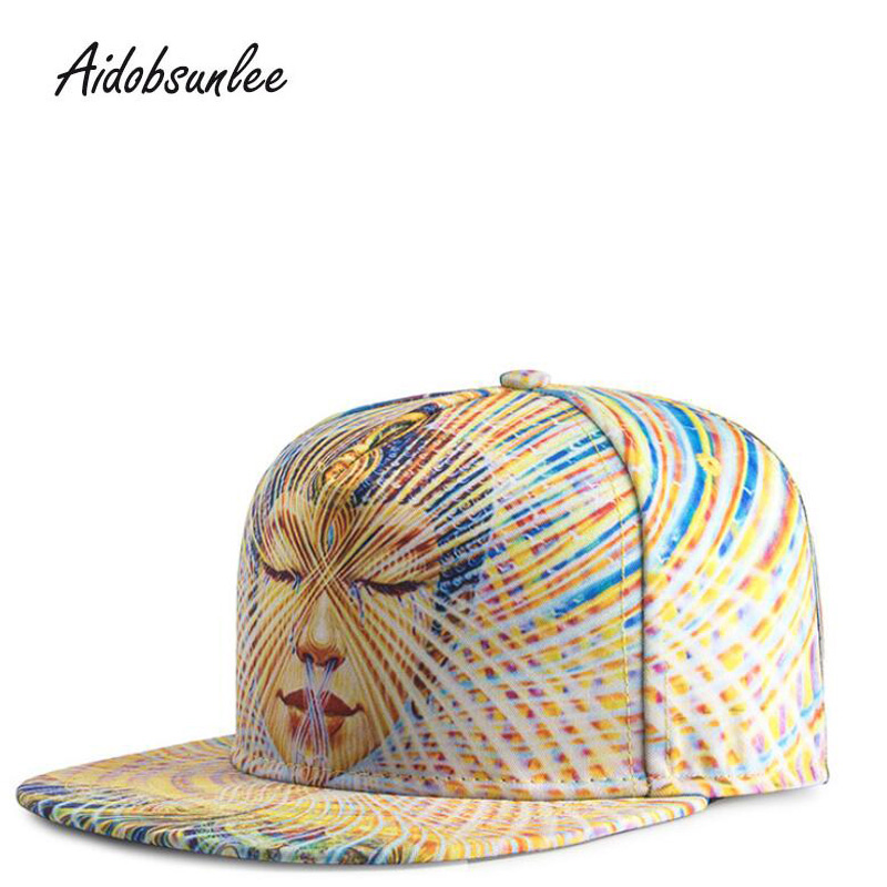 2018 Fashion Trends Men Women Hat Hats 3D Digital Print Heat Transfer Buddha Hip Hop Baseball Cap Caps Snapback Bone Adjustable new fashion floral adjustable women cowboy denim baseball cap jean summer hat female adult girls hip hop caps snapback bone hats