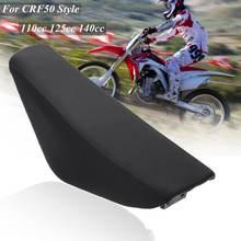 Black Flat Tall Foam Seat For CRF50 Style 110cc 125cc 140cc Pit Pro Trail Dirt Bike