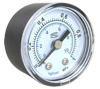 Free Shipping 12pcs A Lot PT1/4'' 1 MPa Round Dial Liquid Gaseous Metal Pressure Gauge GS-50