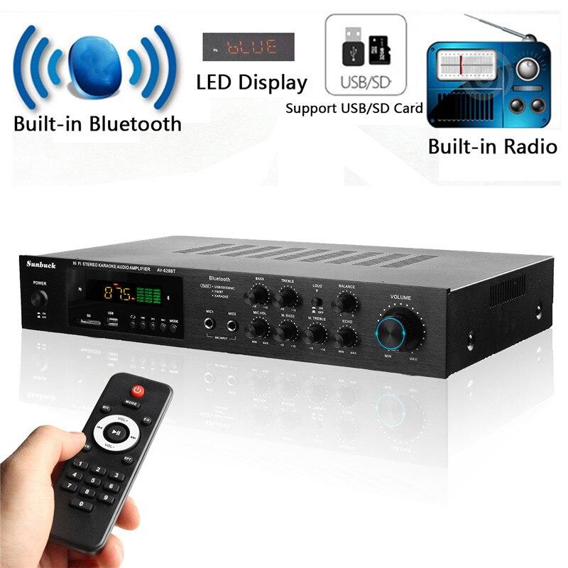 Versão sem fio USB/SD Amplificador de Áudio AMPLIFICADOR DE POTÊNCIA de 1120 W 4ohm 5CH bluetooth Lossless Estéreo Surround de Cinema de Karaoke Em Casa