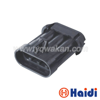 Free shipping 100sets 3pin delphi auto waterproof wire harness cable connector 15358681