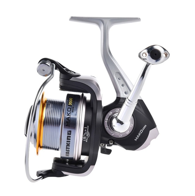 KastKing New MAKO3500 Super Large Spool 10KG Drag Metal Spinning Fishing Reel Carp Fishing Wheel Spinning Reel