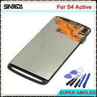 Sinbeda White Grey LCD For Samsung Galaxy S4 Active I9295 I537 LCD Display Touch Screen Assembly