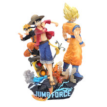 SALTAR Força Anime Naruto One Piece Luffy Luffy Dragon Ball Gouku PVC Modelo Figura Toys(China)