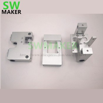 SWMAKER Aluminum X axis single Extruder Carriage RJ4JP-01-08 /8UU Y axis carriage kit For Replicator CTC Flashforge Upgrade kit