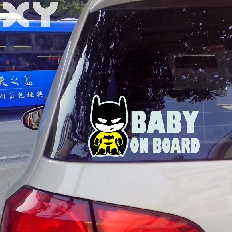 Baby Batman BABY ON BOARD Vinyl Car Decal Sticker / Reflective Tape Stickers Drop Shipping самокат amigo torino sport красный