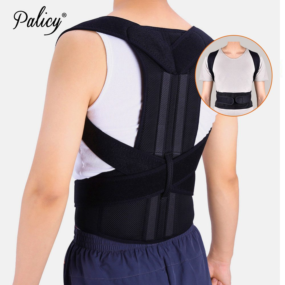 Chest Open Posture Corrector Shoulder Support Belt For Adult Teenager Back Brace Girdle Posture Men Corset Fracture Body Shapers