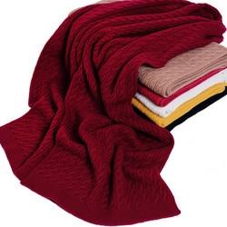 100% merino wolle verdreht stricken frauen mode dicke schals 35x180 cm bordeaux rot 6 farbe großhandel einzelhandel