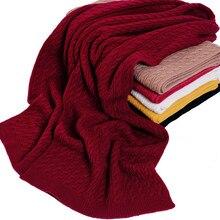 Bufandas gruesas de moda de punto trenzado de lana merino 180 35 cm 100%  Burdeos 4f02b0434134