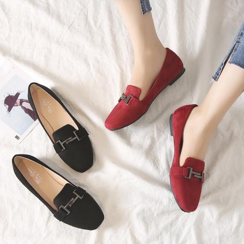 Printemps Carrée 31 vin Mode Petite Femmes Plat Chaussures 41 Taille Rouge Simples Angleterre Noir Noir Tête Mocassins Grande 44 De 43 3 qtRFFwT