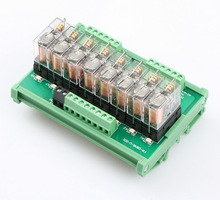 8 way normally open contact power relay module G2R-1 relay disc RT-M08AN 24V with fuse цена