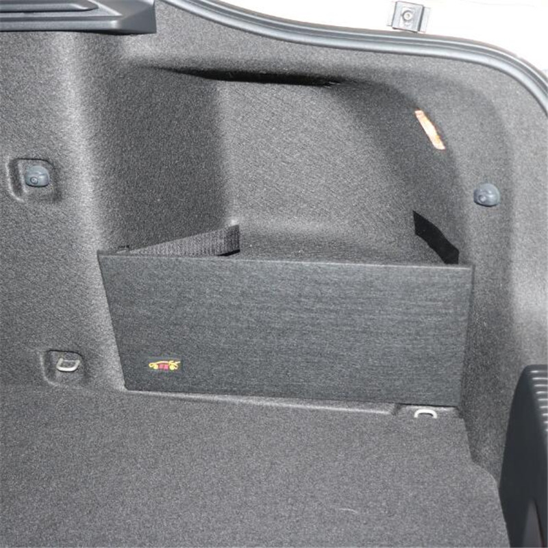 For Skoda Octavia  II A5 A7 Trunk Storage Package Special Large Storage Black Color Bag Simple Storage Partition 2pieces