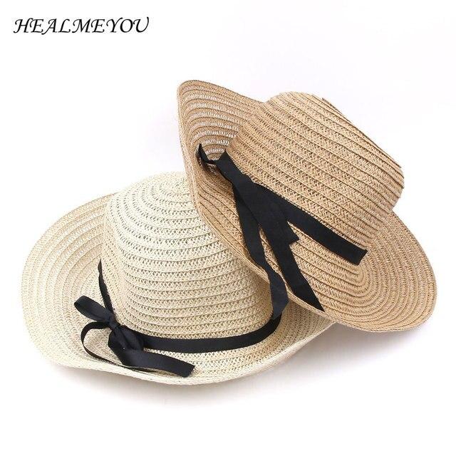 51dee841d8f49 Modern Hot New Fashion Summer Casual Women Ladies Wide Brim Beach Sun Hat  Elegant Straw Floppy Bohemia Cap For Women Dating