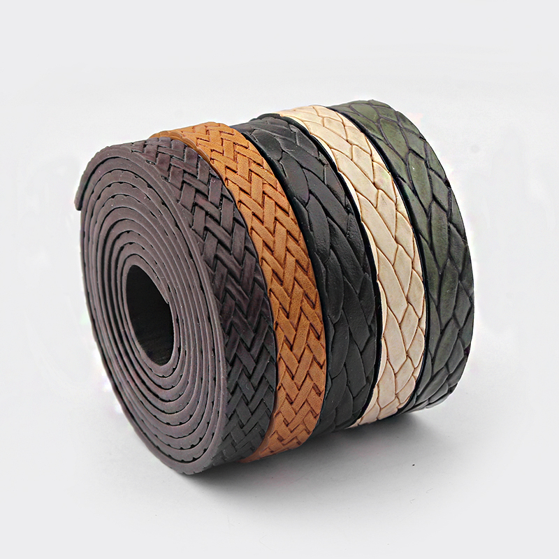 1meter 10MM Flat PU Leather Cord Braid Rope DIY Jewelry Findings Accessories Fashion Jewelry Making Materials For Bracelets