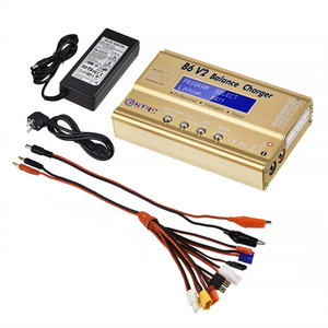 Image 5 - HTRC B6 V2 80W סוללה איזון מטען 15V 6A AC מתאם + 8 ב 1 כבלים + LiPo בטוח סוללה משמר פיצוץ הוכחת תיק פריקה