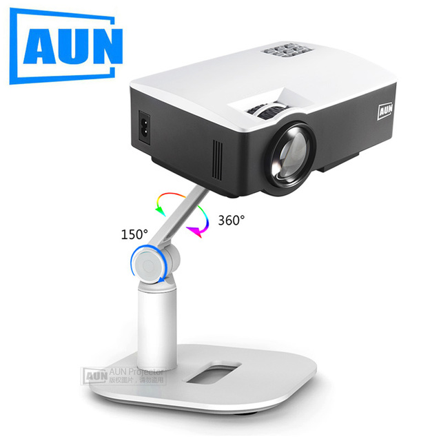 AUN Projector Bracket, Adjustable Holder. Support Projection onto the wall or Ceiling. Projector Stand SDJ3Y