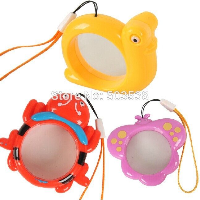 3PCS/LOT,3 design Plastic magnifiers hanger,Kids magnifiers,Toy for children,Kindergarten training supplies,Freeshipping.Onstock