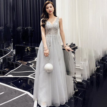Evening Dress 2020 Backless Sleeveless Formal Party Gowns Long Evening Dresses
