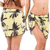 Beach Skirt Cover Up Sarong Wrap Printed Skirt 3