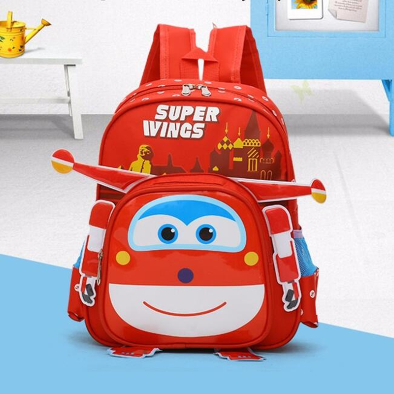 Hot superwings Three-dime <font><b>School</b></font> Bag Children Boys <font><b>Backpacks</b></font> Kindergarten <font><b>backpack</b></font> <font><b>for</b></font> girls <font><b>Kid</b></font> Cartoon <font><b>School</b></font> Bag <font><b>for</b></font> <font><b>Kids</b></font> image